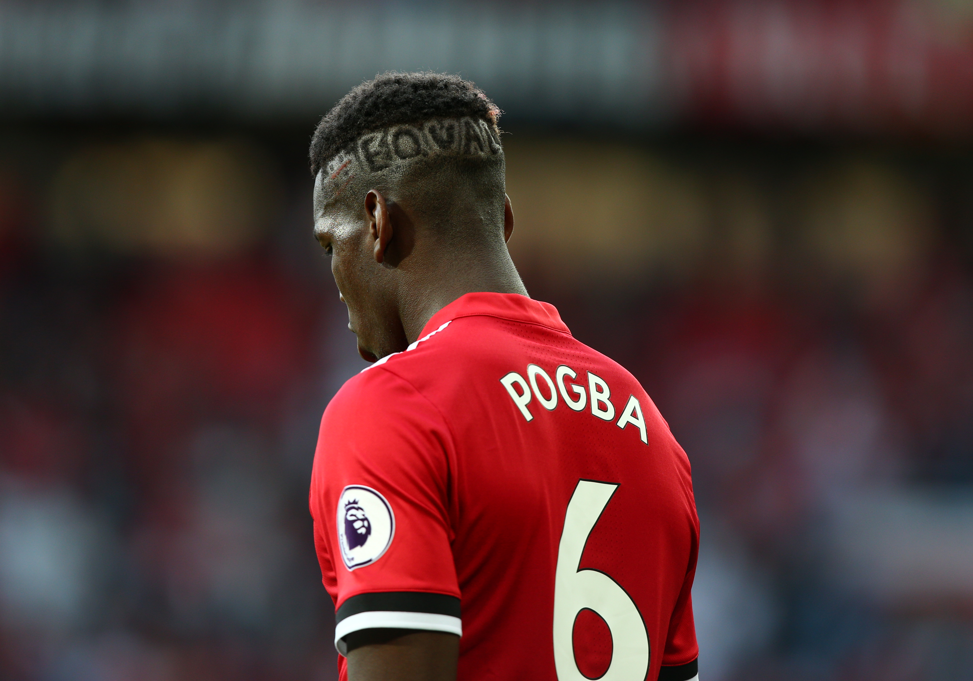 Manchester United's Paul Pogba during the Premier League match at Old Trafford