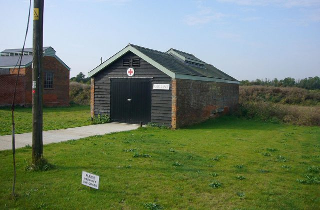 The ambulance and mortuary shed at Stow Maries airfield