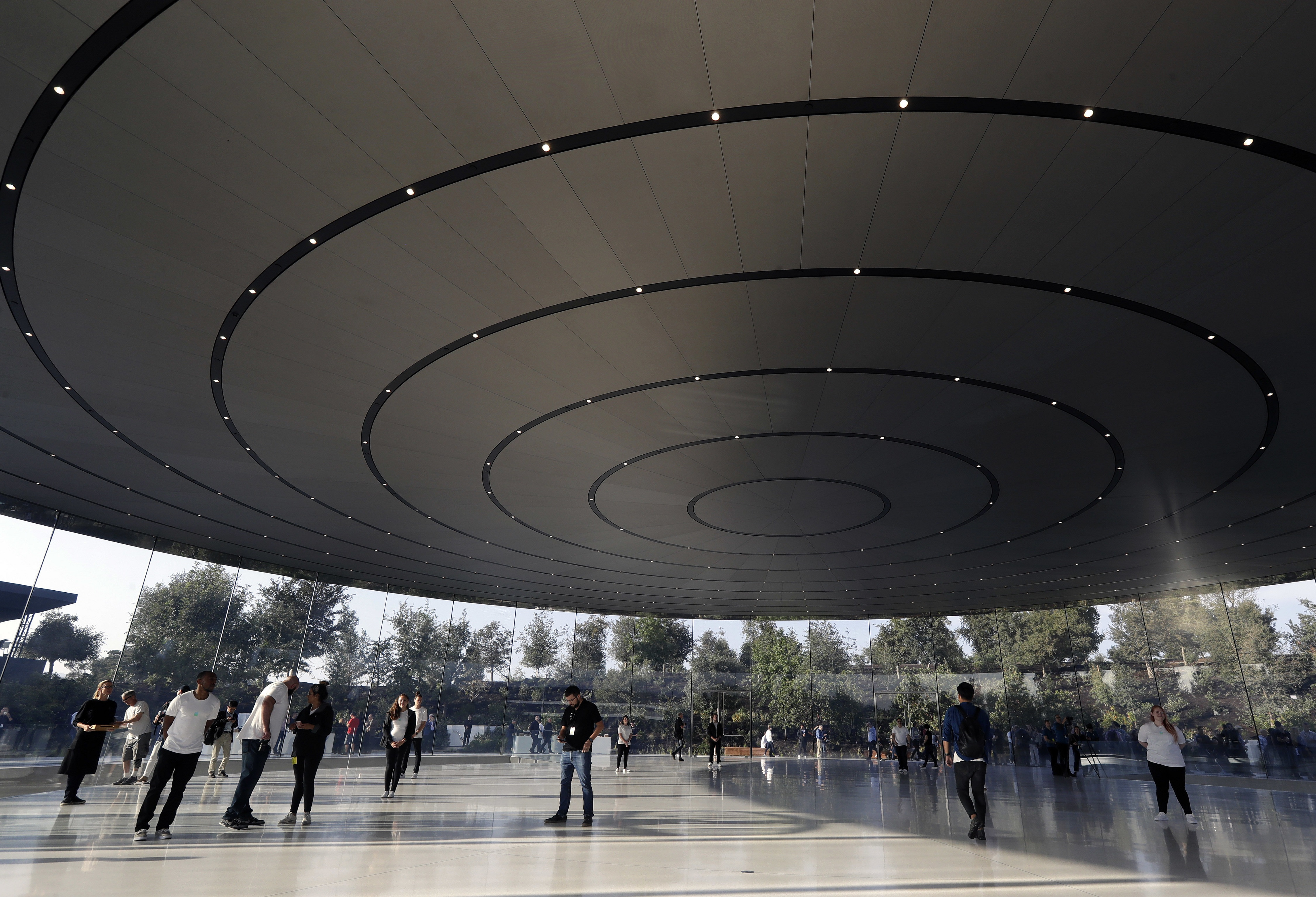A view of the ceiling at Apple Park