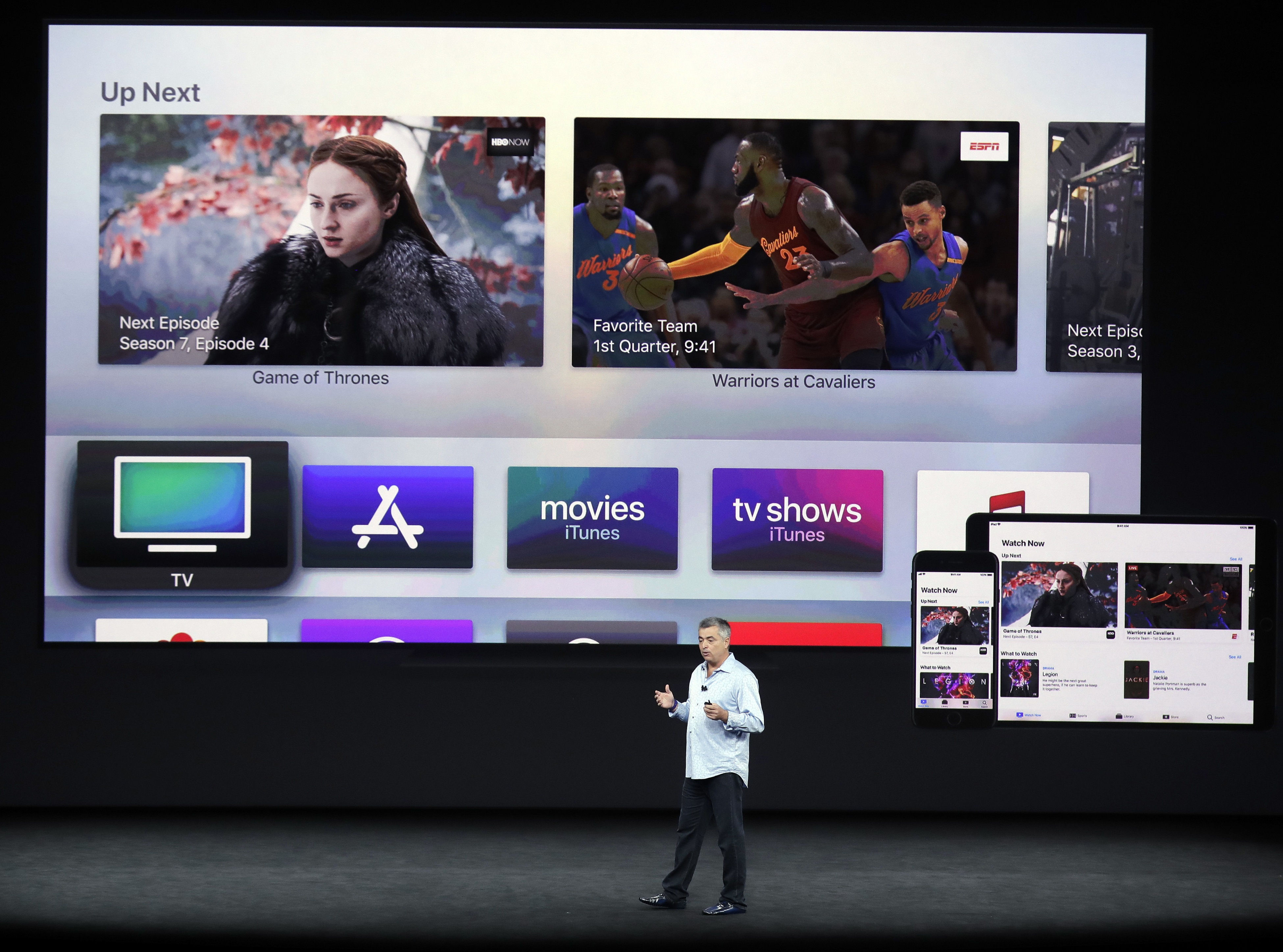 The Apple TV announcement in California