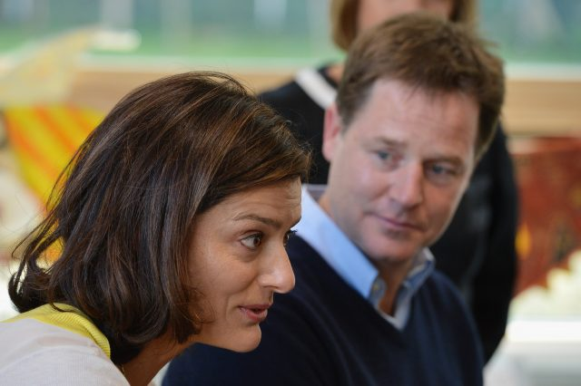 Nick Clegg with his wife Miriam Gonzalez Durantez