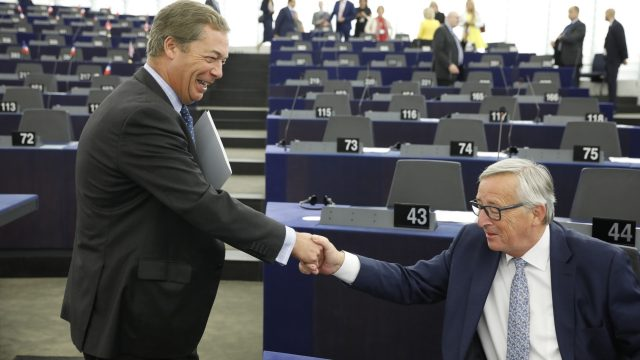 "Nigel Farage described Jean-Claude Juncker's speech as the most open, honest and truly worrying"" speech he had heard in his time as an MEP"