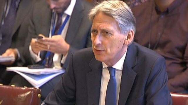 Jeremy Corbyn responded to comments made by the Chancellor Philip Hammond