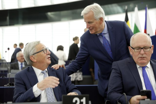 Jean-Claude Juncker and Michel Barnier