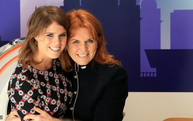 The Duchess of York, Sarah Ferguson and her daughter Princess Eugenie