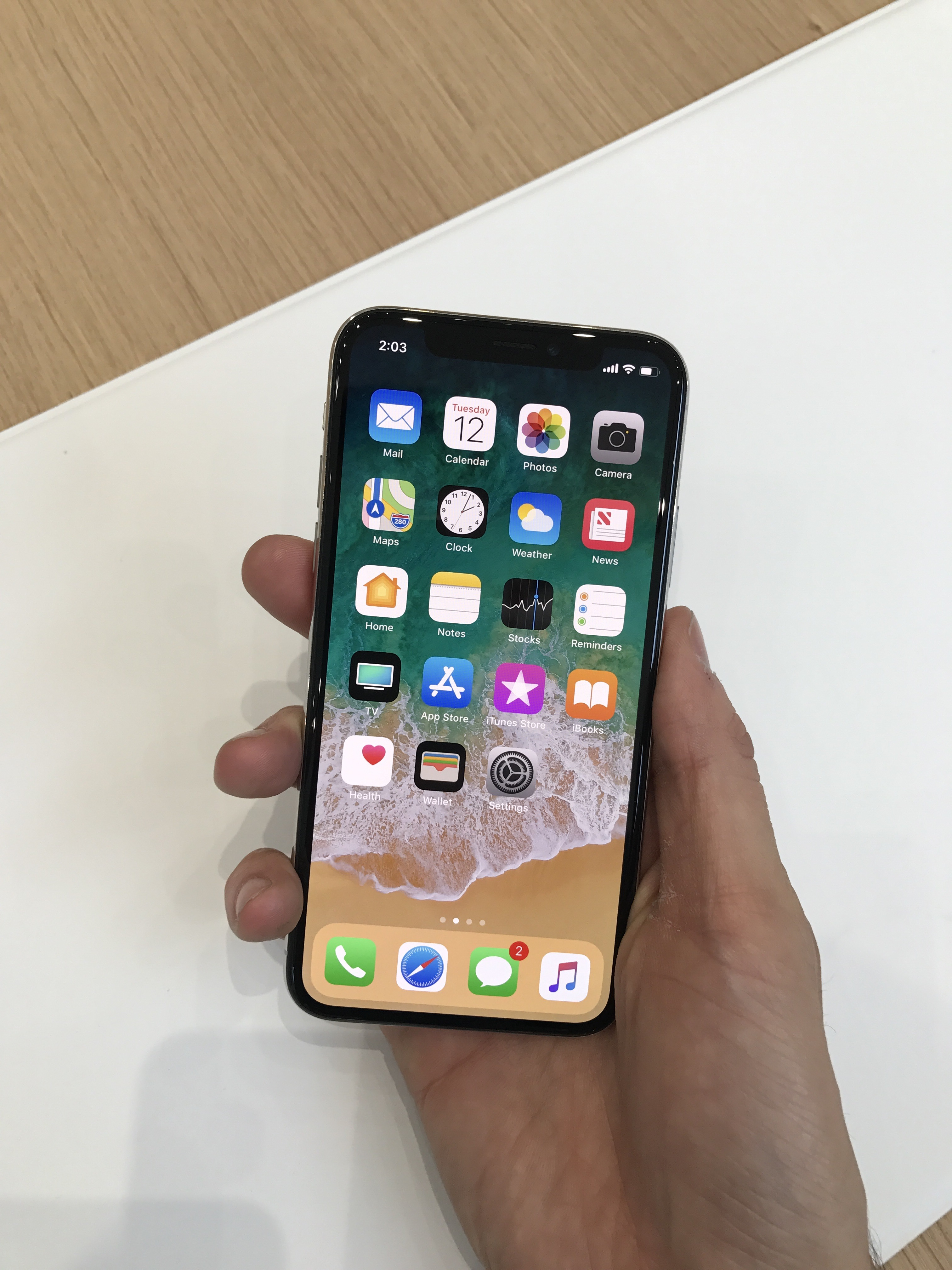 The IPhone X From Front