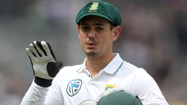 The South African wicketkeeper slipped and twisted his knee while walking his dog