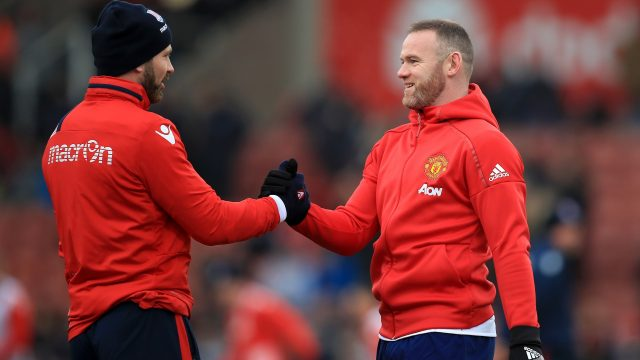 Wayne Rooney and Phil Bardsley have remained good friends despite the punch