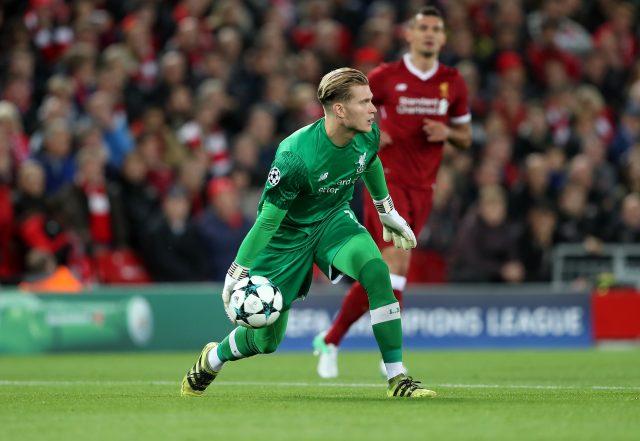 Loris Karius in action for Liverpool