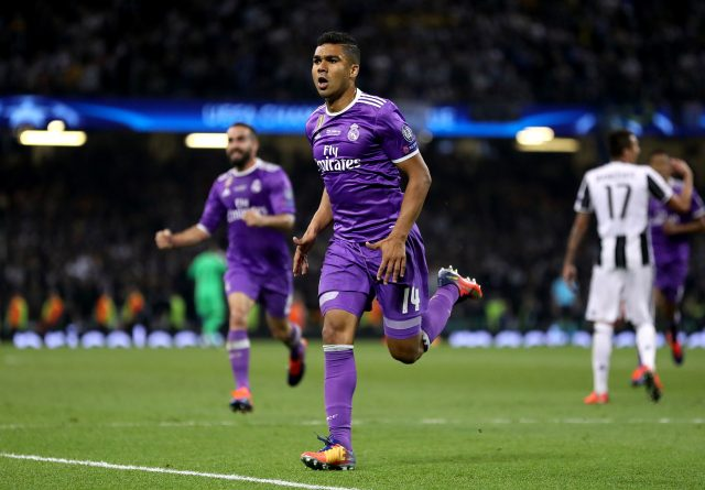 Casemiro has called for Real Madrid fans to stop booing Gareth Bale (Nick Potts/PA)