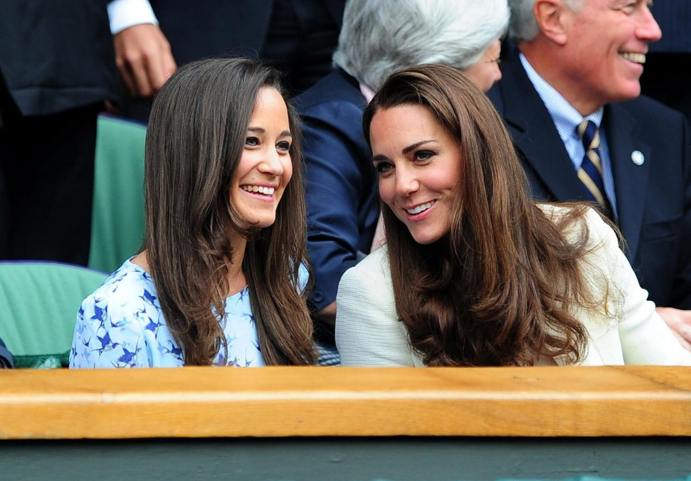 Pippa Middleton with her sister, the Duchess of Cambridge (Adam Davy/PA)