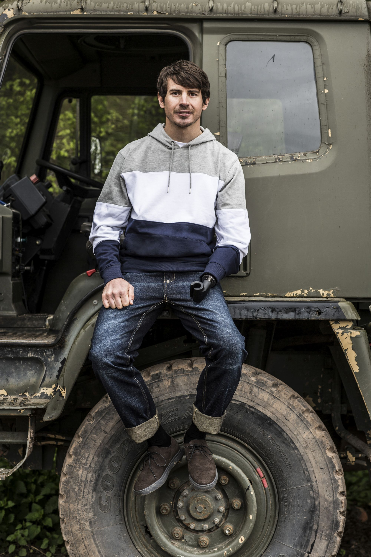 Jaco Van Gass modelling for Jacamo (Neale Haynes/Jacamo/PA)