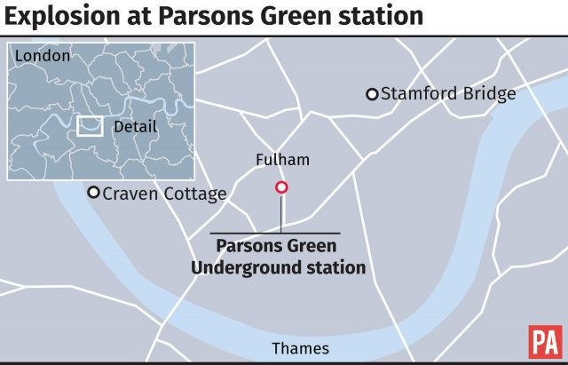 Explosion at Parsons Green Underground station