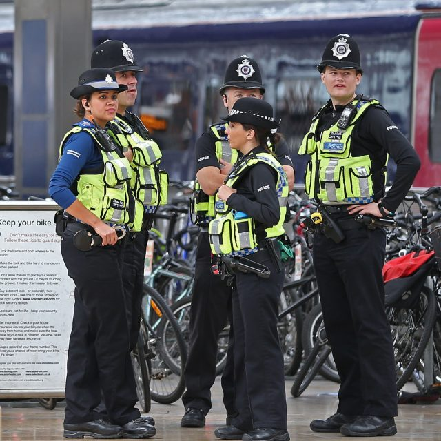 Police at Paddington train station in London