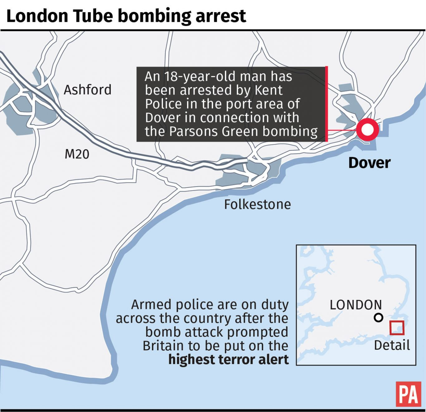 Parsons Green terror attack: Armed police in counter terror operation in Surrey