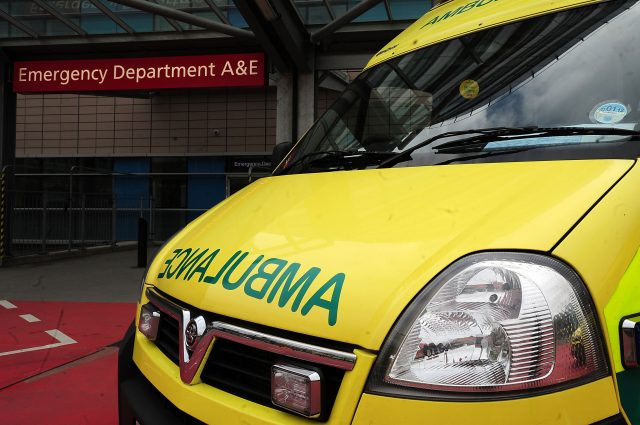Eight injured as double-decker hits overhead walkway at hospital