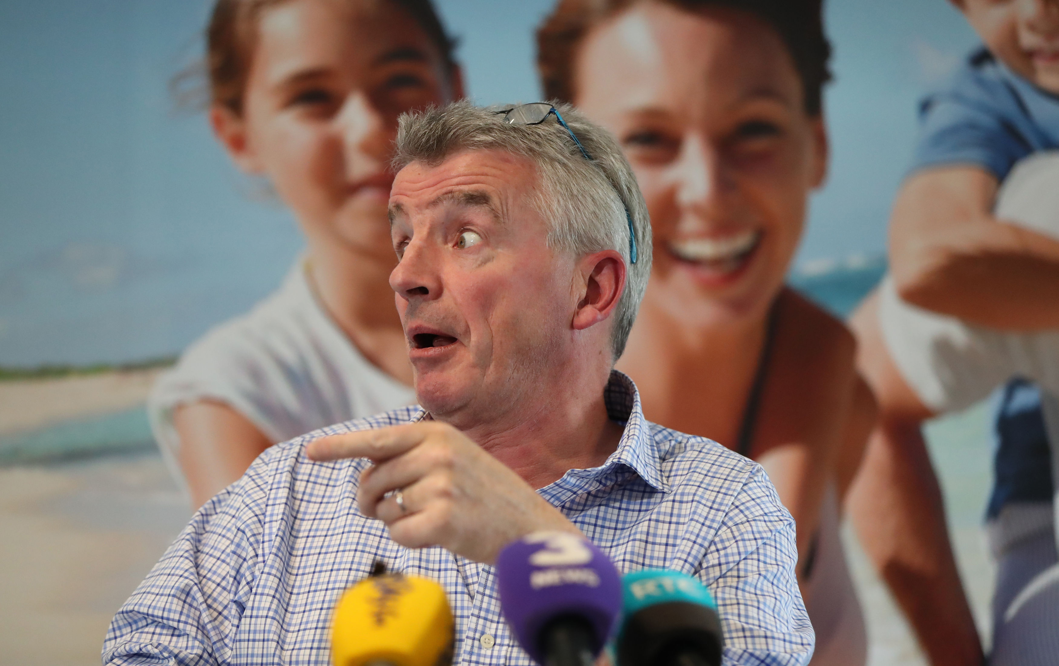 "Ryanair boss Michael O'Leary at a press conference discussing the ""mess"" ( Niall Carson/PA)"