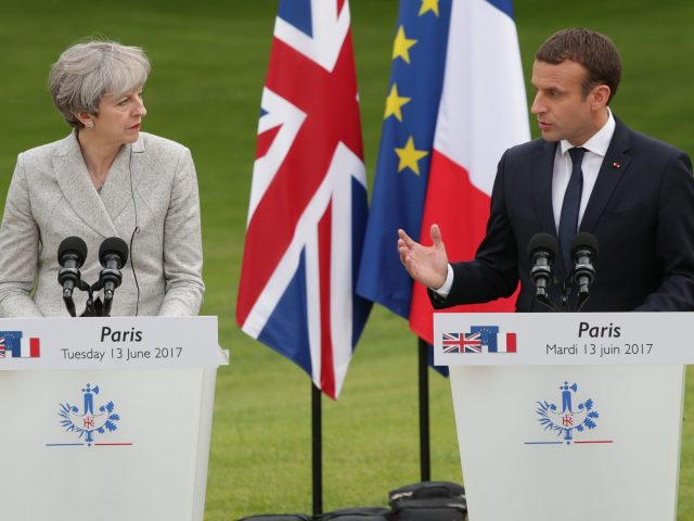 Prime Minister Theresa May and French President Emmanuel Macron
