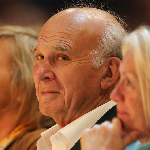 Sir Vince Cable at the Lib Dems' conference in Bournemouth