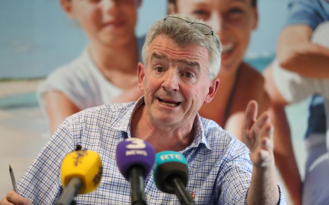 Ryanair boss Michael O'Leary during a press conference in Dublin