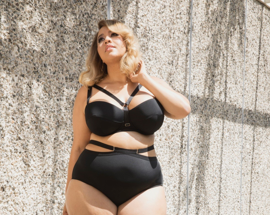 46e792ce4f1 US blogger Gabi Fresh wearing designs from her new lingerie collection for  Playful Promises