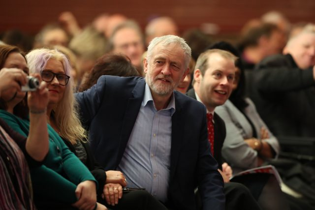 Jeremy Corbyn at the party conference last year. (Peter Byrne/PA)