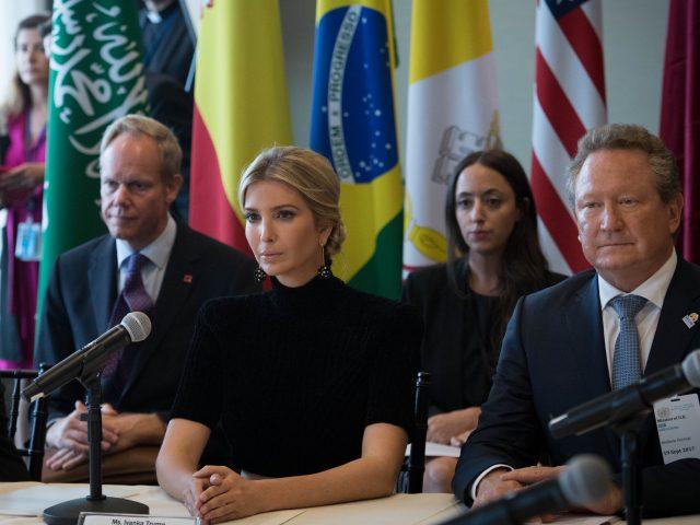 Ivanka Trump pledged support