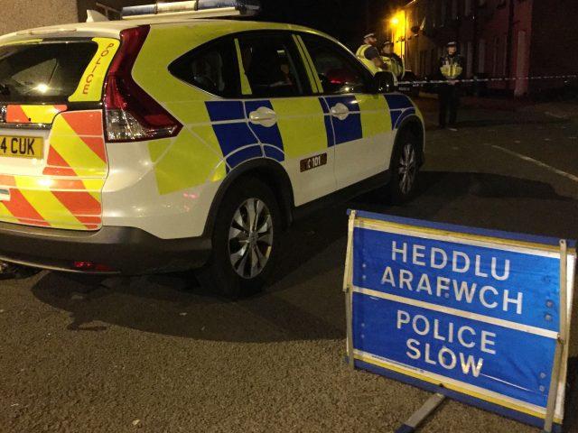 Police activity in Newport