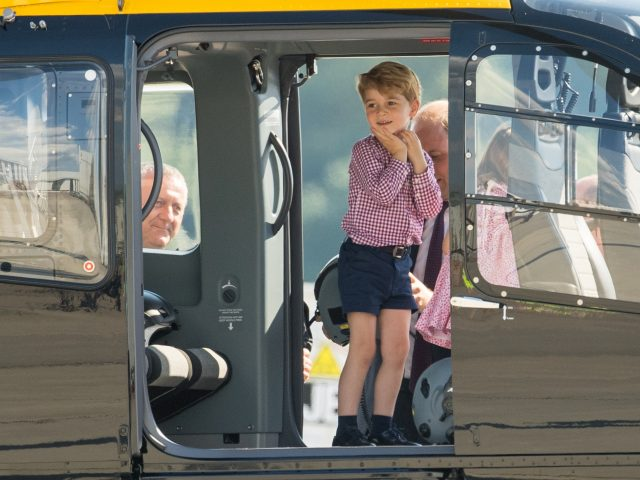 Young prince George has seen his name surged 11 places since 2006 (Dominic Lipinski/PA)