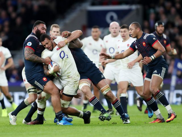 England's Courtney Lawes during the RBS 6 Nations match at Twickenham Stadium