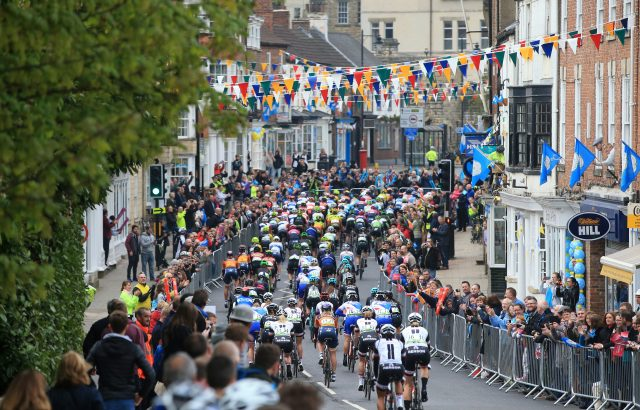 The riders head from Tadcaster to Harrogate in the 2017 women's race