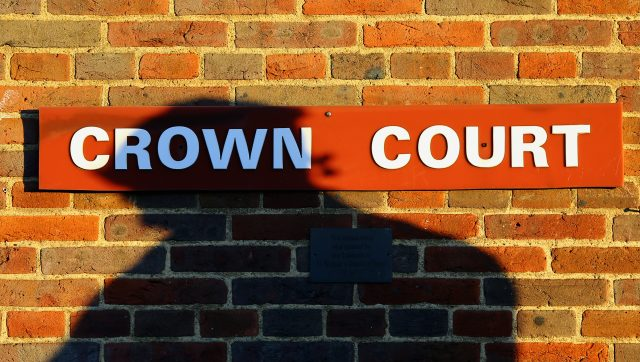 A Crown Court sign