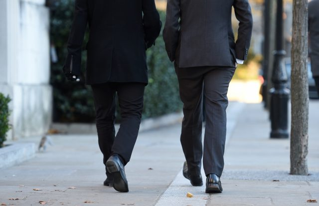 Two men walking