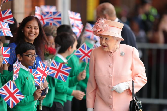 The Queen arrives at Slough Station in June  (Andrew Matthews/PA)