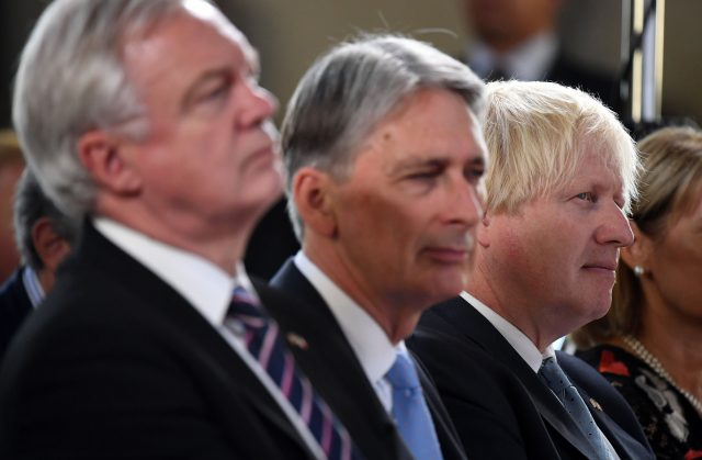 David Davis, Philip Hammond and Boris Johnson