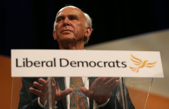 Sir Vince Cable. (Andrew Matthews/PA)