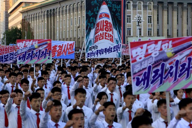 North Korea anti-USA protest