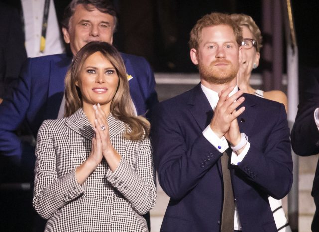 The First Lady of the United States Melania Trump and Prince Harry. (Danny Lawson/PA)