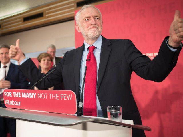Jeremy Corbyn on the campaign trai