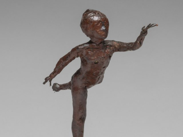 Arabesque over Right Leg, Left Arm in Front, by Edgar Degas