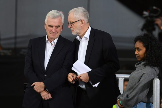 Shadow chancellor John McDonnell  with Labour leader Jeremy Corbyn