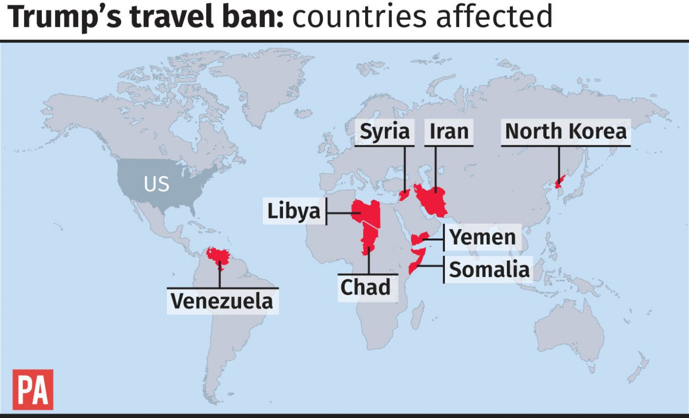 Trump Travel Ban Affected Countries