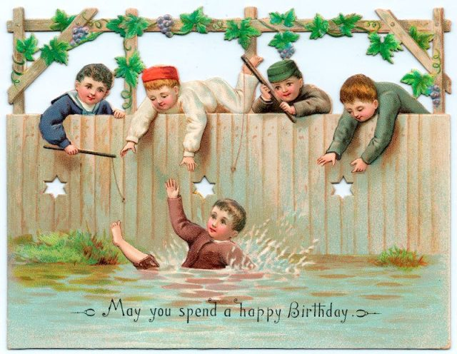 A 19th century birthday card