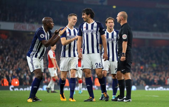 West brom were not happy with Robert Madley
