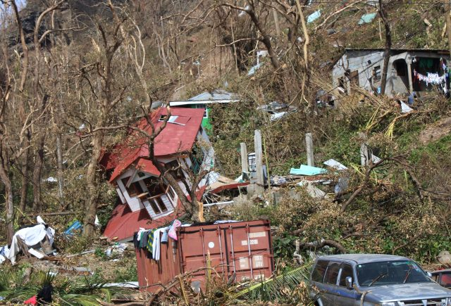 Homes lay scattered after the passing of Hurricane Maria in Roseau, the capital of the island of Dominica. (AP)