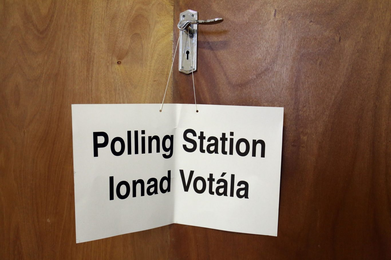 Polling station (Chris Radburn/PA )