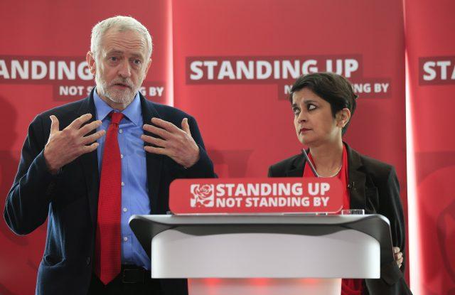 Jeremy Corbyn with Baroness Chakrabarti