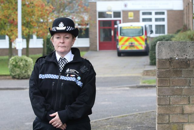 Chief Superintendent Christine Wilson outside Winterton Community Academy