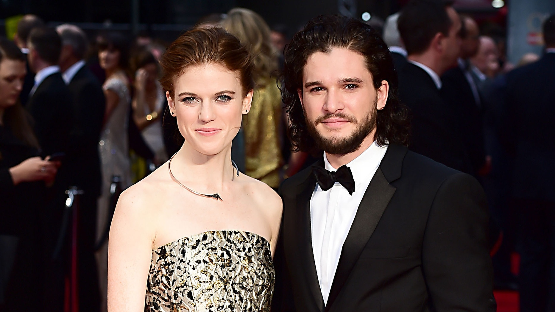 Kit Harington and Rose Leslie, who have announced their engagement (Ian West/PA)