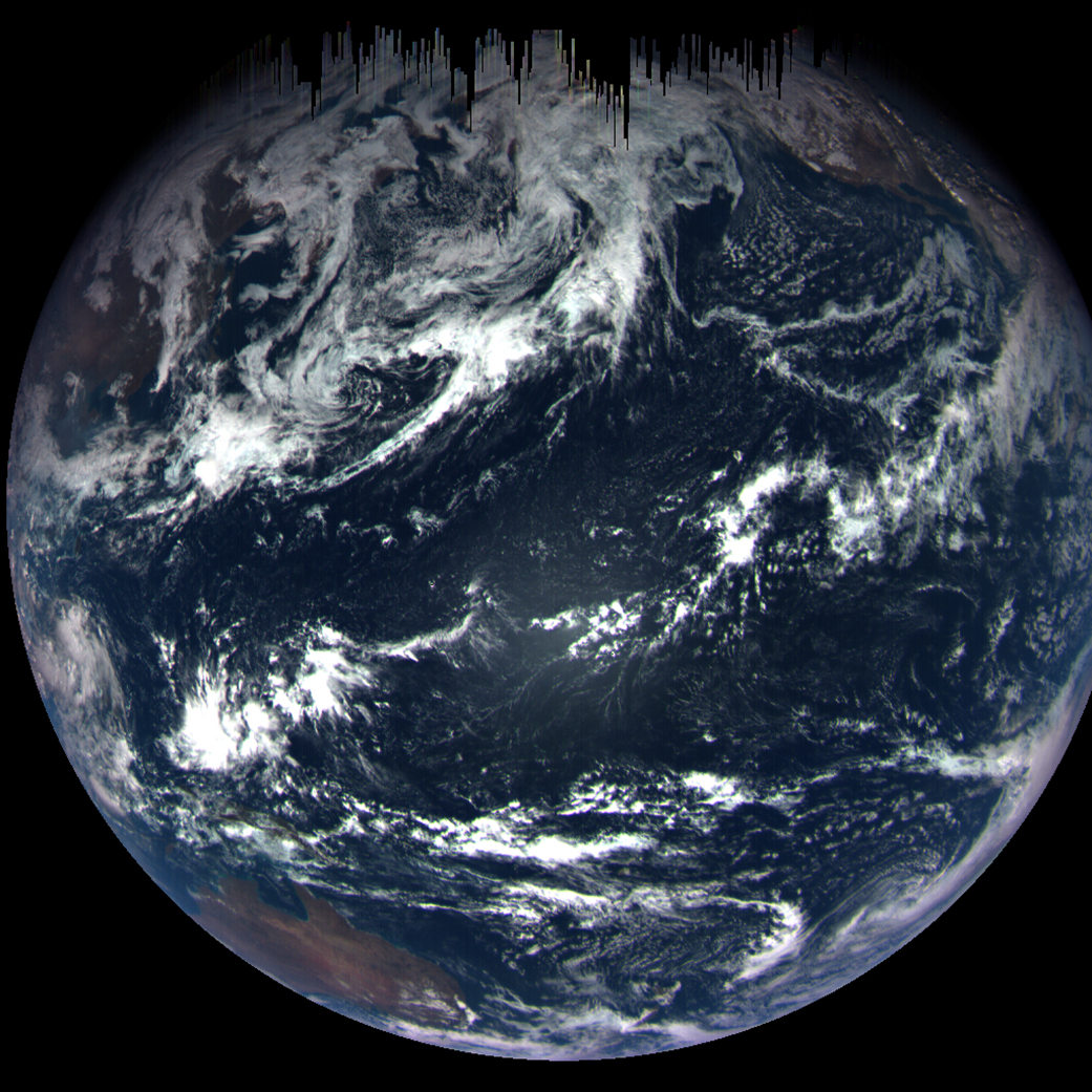The Earth as taken by Nasa's OSIRIS-REx spacecraft (Nasa's Goddard Space Flight Center/University of Arizona)